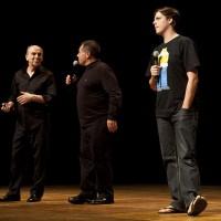 Damasceno, Fabio Porchat e Sérgio Rabelo no Quinta Alegre