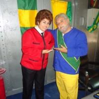 Lula e Dilma no Zorra